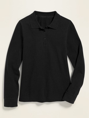 Old Navy Uniform Long-Sleeve Pique Polo for Girls