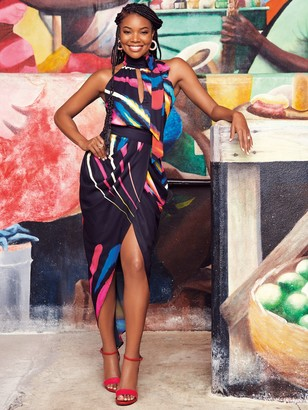 New York & Co. Print Tie-Waist Skirt - Gabrielle Union Collection