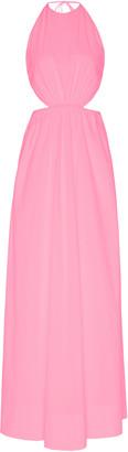 STAUD Apfel Cutout Cotton-Blend Maxi Dress