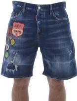 DSQUARED2 Patch Detail Denim Shorts