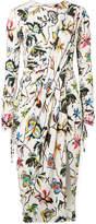 Jason Wu Gathered Floral-print Stretch-jersey Dress