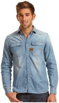 G Star G-Star - Construct L/S Denim Shirt (Oxide Denim Light Aged) - Apparel