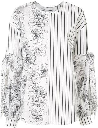 Silvia Tcherassi Contrast Pattern Blouse