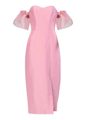 True Decadence Pink Bardot Organza Tailored Dress