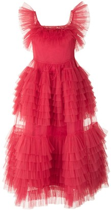 Molly Goddard Organza Ruffle Dress