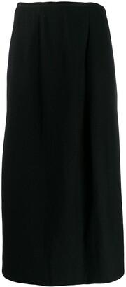 Yohji Yamamoto Pre-Owned 1990's High-Waist Midi Skirt