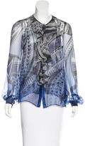 Emilio Pucci Silk Button-Up Blouse w/ Tags