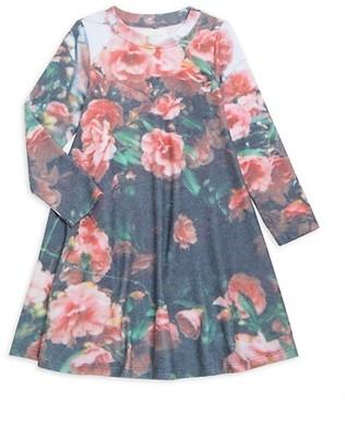 Sol Angeles Little Girl's & Girl's Cherry Blossom Graphic Shift Dress