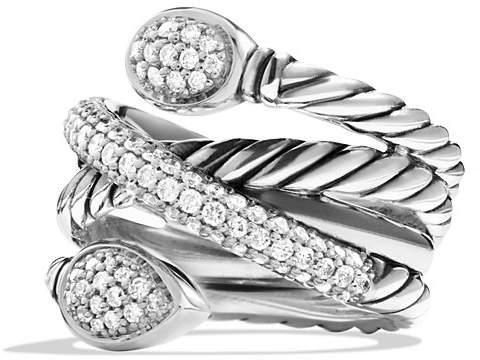David Yurman Renaissance Crossover Ring with Diamonds