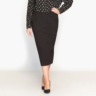 La Redoute Collections Plus Figure-Hugging Mid-Length Skirt