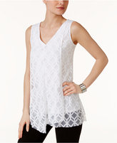 Alfani Burnout-Print Top, Only at Macy's