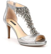 Alex Marie Dellah Beaded Metallic Leather Dress Sandals
