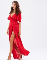 Dream Frill Maxi Wrap Dress