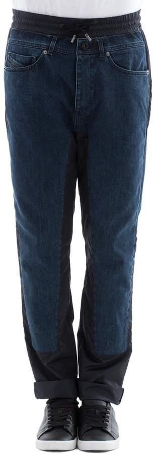 Diesel Black Gold Blue Cotton Pants