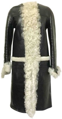 Louis Vuitton Black Shearling Leather jackets