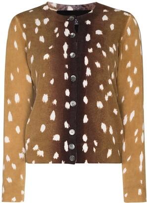 Marc Jacobs Animal Print Button-Up Cardigan