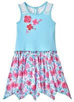 Nannette Girls 4-6x Print Hanky-Hem Dress