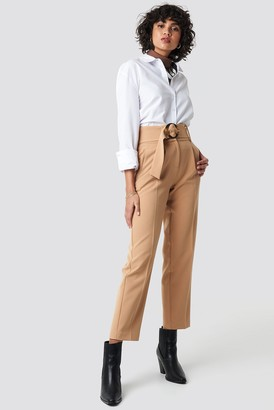 NA-KD Asymmetric Belted Suit Pants