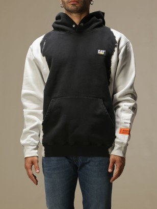 Heron Preston Sweatshirt In Two-tone Fabric With Logo