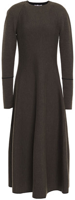 CASASOLA Melange Knitted Midi Dress