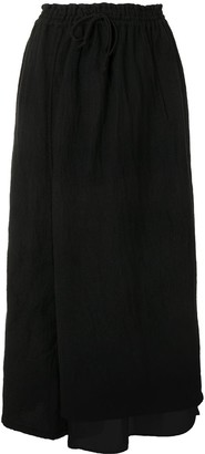 Y's Layered Wide Leg Trousers