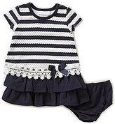 Bonnie Jean Bonnie Baby Girls 12-24 Months Striped Drop Waist Dress