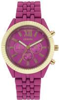 JCPenney GENEVA Womens Coin-Edge Bezel Pink Dial Bracelet Watch