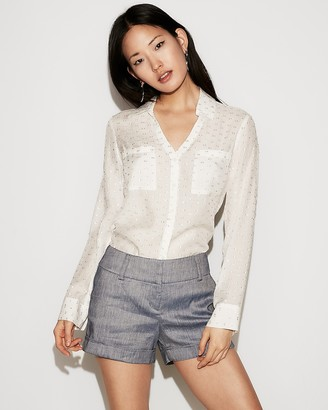 Express Low Rise Linen-Blend Shorts