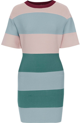 Herve Leger Color-block Bandage Mini Dress