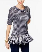 MICHAEL Michael Kors Tassel-Trim Sweater