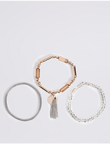 M&S Collection 3 Pack Stretch Bracelets