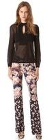 Jean Paul Gaultier Print Flare Trousers