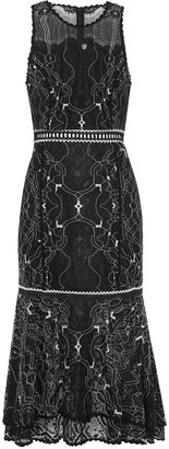 Jonathan Simkhai Fluted Corded Lace Dress