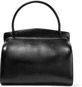 Jil Sander Glossed textured-leather shoulder bag