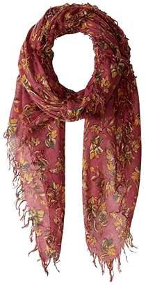 Chan Luu Floral Cashmere Silk Scarf (Wheat) Scarves