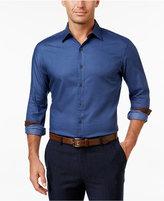 Tasso Elba Men's Contrast Cuff Long-Sleeve Shirt, Classic Fit