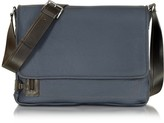 Chiarugi Midnight Blue Leather Messenger