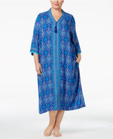 Charter Club Plus Size Contrast-Banded Caftan, Only at Macy's