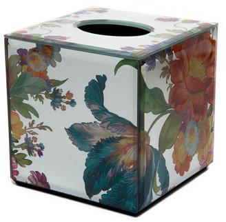 Mackenzie Childs Flower Market Reflections Boutique Tissue Box Cover