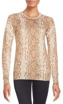 Equipment Sloane Silk & Cashmere Python-Print Sweater