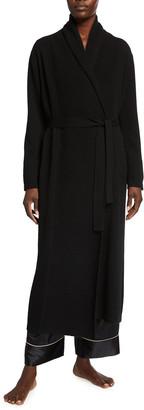 Neiman Marcus Cashmere Shawl Collar Long Robe