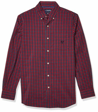 Chaps Men's Classic Fit Long Sleeve Stretch Easy Care Shirt