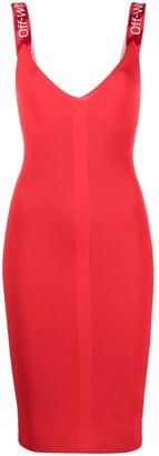 Off-White knitted V-neck sleeveless dress