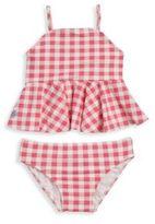 Ralph Lauren Baby's Two-Piece Gingham Peplum Tankini