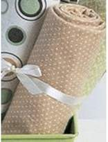 Carter's wrap-me-up receiving blanket-brown/sage circles (30 x 40) by