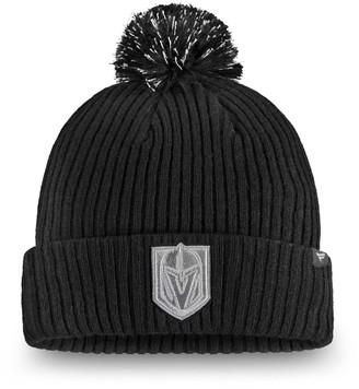 Women's Fanatics Branded Black Vegas Golden Knights Lunar Cuffed Knit Hat With Pom