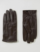 Barney's Originals Barneys Leather Gloves in Brown