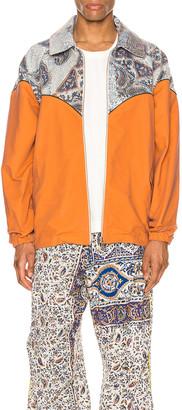 Paria Farzaneh Cowboy Jacket in Orange & Multi | FWRD