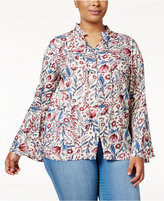 Style&Co. Style & Co Plus Size Printed Bell-Sleeve Blouse, Only at Macy's
