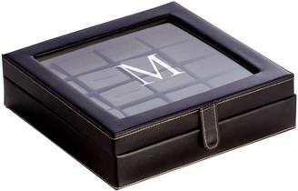 Bey-Berk Bey Berk Black Leather 20 Cufflink Box